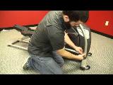 spiritfitness baltic elliptical trainer 2013 assembly video step 2